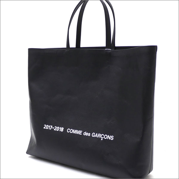 COMME des GARCONS(コムデギャルソン) COW LEATHER TOTE BAG L (トートバッグ) BLACK 277-002466-051x【新品】
