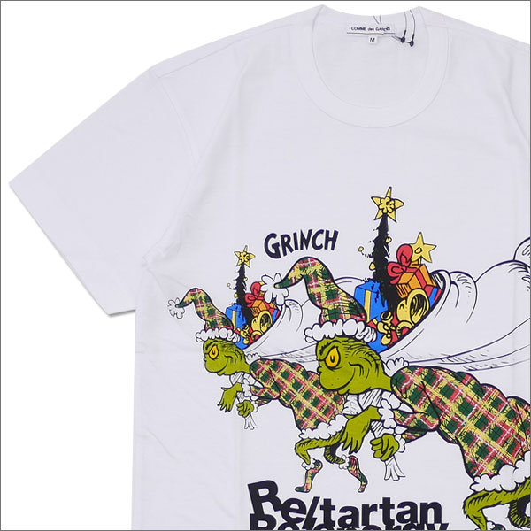 COMME des GARCONS(コムデギャルソン) GRINCH PRESENT TEE (Tシャツ) WHITE 200-007672-040x【新品】