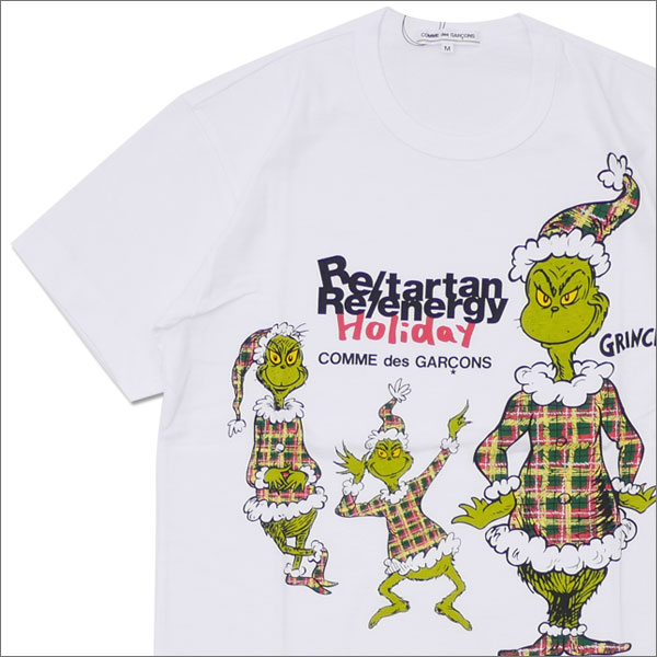 COMME des GARCONS(コムデギャルソン) GRINCH TEE (Tシャツ) WHITE 200-007671-040x【新品】