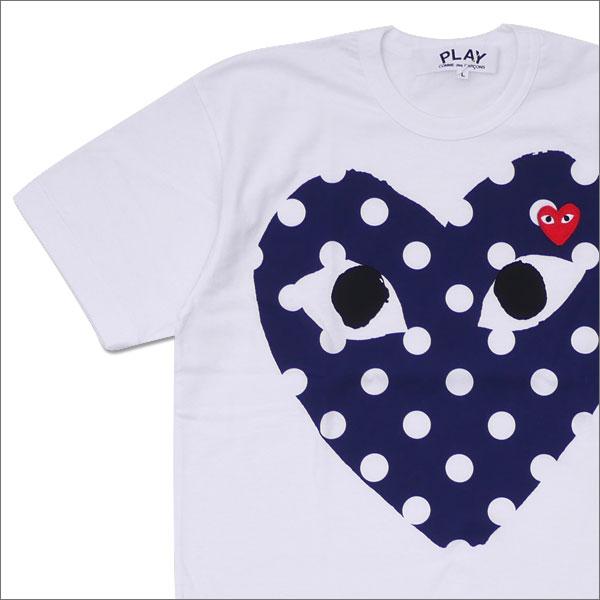 PLAY COMME des GARCONS(プレイ コムデギャルソン) MEN'S DOT HEART TEE (Tシャツ) WHITE 200-007704-050x【新品】