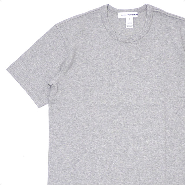 COMME des GARCONS SHIRT (コムデギャルソン シャツ) Plain Crew Neck Tee (Tシャツ) GRAY 200-007698-052x【新品】