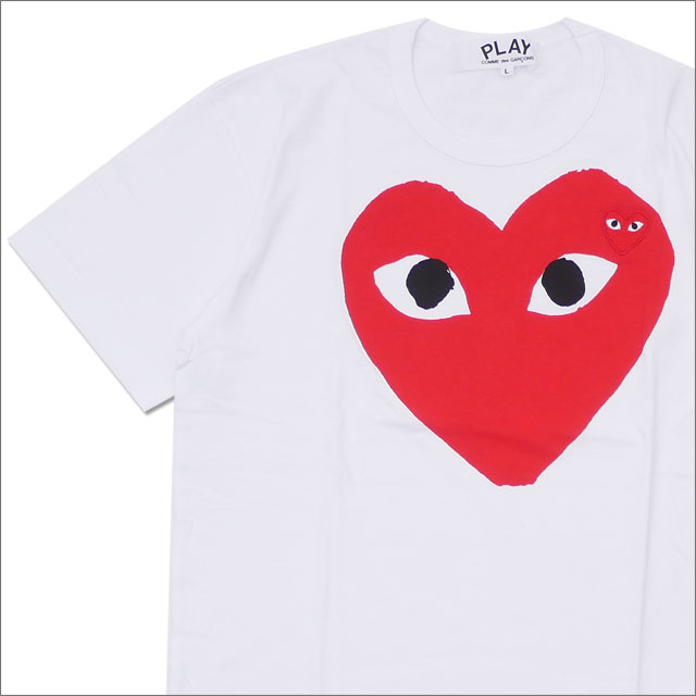 PLAY COMME des GARCONS(プレイ コムデギャルソン) RED HEART TEE (Tシャツ) WHITE 200-007717-050x【新品】