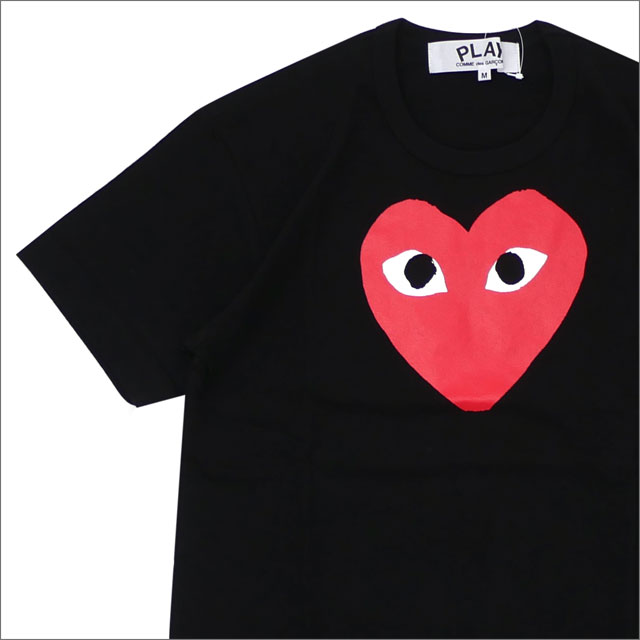 PLAY COMME des GARCONS(プレイ コムデギャルソン) RED HEART PRINT TEE (Tシャツ) BLACK 200-007735-041x【新品】