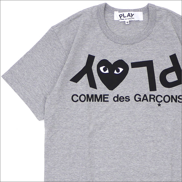PLAY COMME des GARCONS(プレイ コムデギャルソン) MEN'S PLAY HEART LOGO TEE (Tシャツ) GRAY 200-007733-032x【新品】