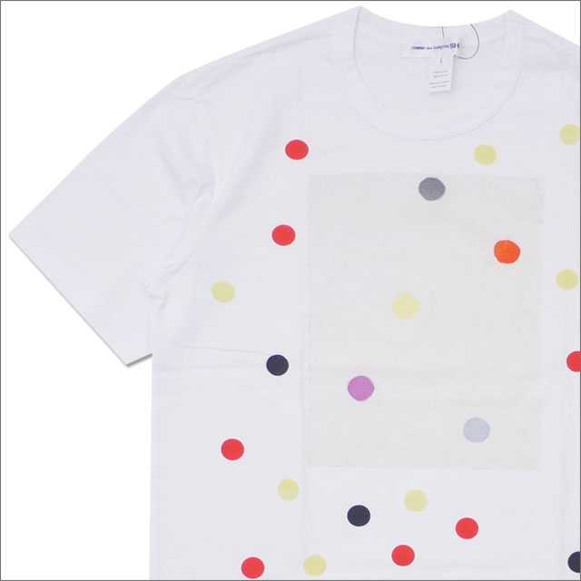 COMME des GARCONS SHIRT (コムデギャルソン シャツ) MULTI DOT BOX TEE (Tシャツ) WHITE 200-007770-050x【新品】
