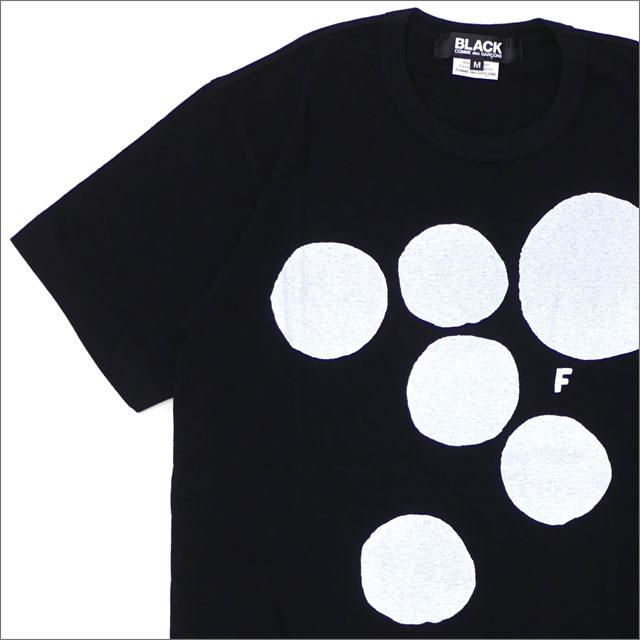 BLACK COMME des GARCONS(ブラック コムデギャルソン) WHITE DOT TEE (Tシャツ) BLACK 200-007778-041x【新品】