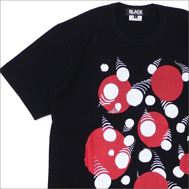 BLACK COMME des GARCONS(ブラック コムデギャルソン) DOT MOVING TEE (Tシャツ) BLACK 200-007777-051x【新品】