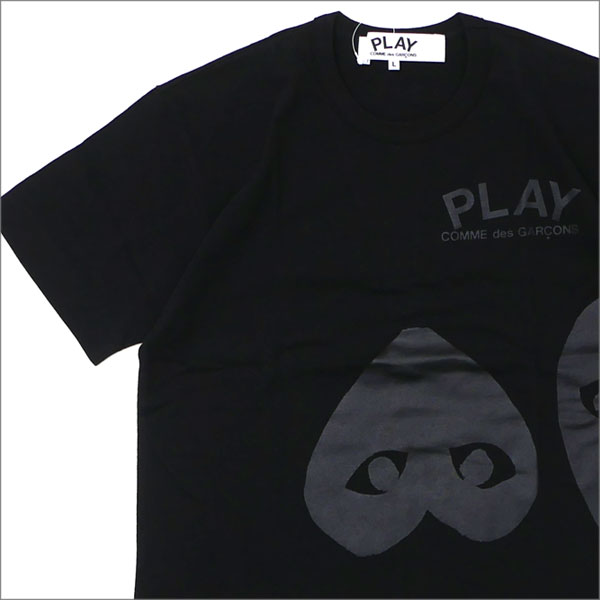 プレイ コムデギャルソン PLAY COMME des GARCONS MEN'S THREE HEART TEE Tシャツ BLACK 200007760051 【新品】