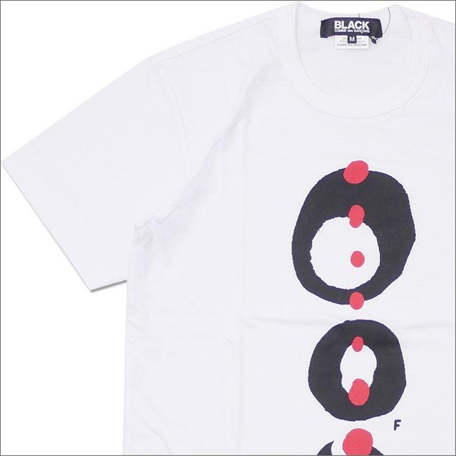BLACK COMME des GARCONS(ブラック コムデギャルソン) THREE CIRCLE RED DOT TEE (Tシャツ) WHITE 200-007830-040x【新品】