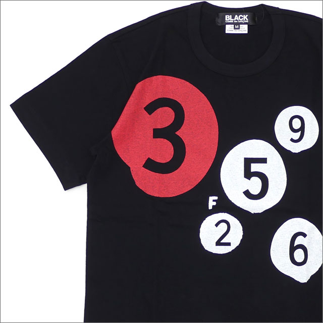 BLACK COMME des GARCONS(ブラック コムデギャルソン) NUMBER CIRCLE TEE (Tシャツ) BLACK 200-007831-041x【新品】