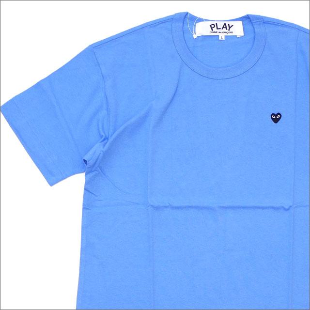 PLAY COMME des GARCONS(プレイ コムデギャルソン) MEN'S MINI HEART WAPPEN TEE (Tシャツ) BLUE 200-007845-054+【新品】