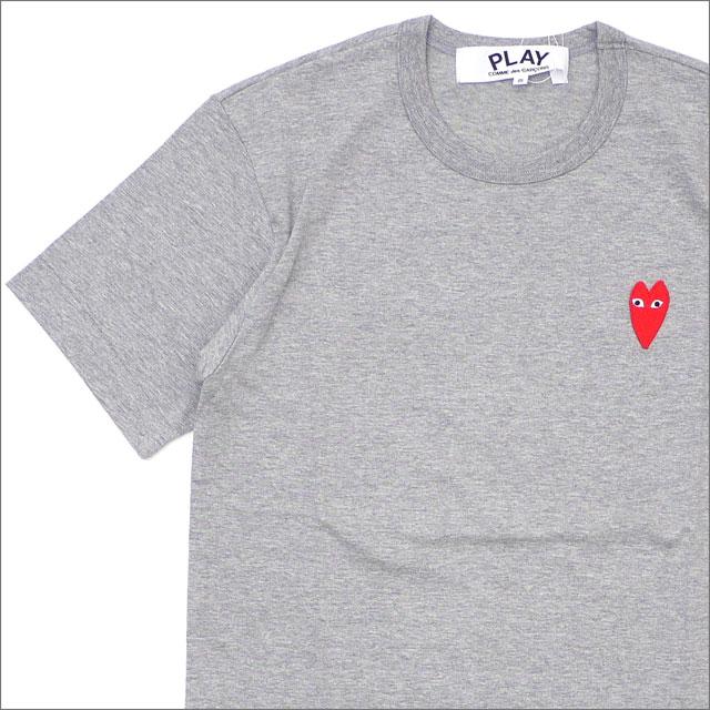 PLAY COMME des GARCONS(プレイ コムデギャルソン) MEN'S HEART WAPPEN TEE (Tシャツ) GRAY 200-007846-032+【新品】