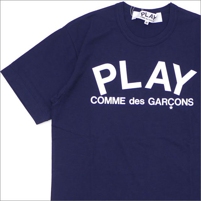 PLAY COMME des GARCONS(プレイ コムデギャルソン) MEN'S PLAY LOGO TEE (Tシャツ) NAVY 200-007844-047+【新品】