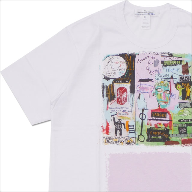 COMME des GARCONS SHIRT(コムデギャルソン シャツ) BASQUIAT TEE (Tシャツ) WHITExPINK 200-007897-040x【新品】