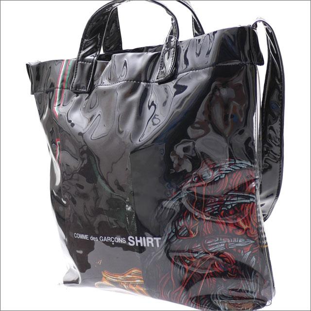 [次回のお買い物で使える500円OFFクーポン配布中!! 4/30(火)まで!!] コムデギャルソン シャツ COMME des GARCONS SHIRT PVC SHOULDER BAG ショルダーバッグ BLACK 277002521011 【新品】