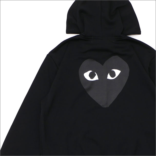 PLAY COMME des GARCONS(プレイ コムデギャルソン) MEN'S BLACK HEART HOODIE (パーカー) BLACK 212-001023-041+【新品】