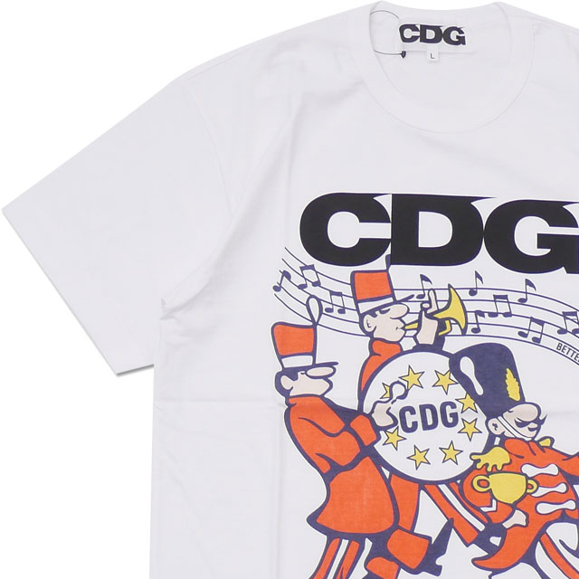 CDG(シーディージー) BETTER GIFT SHOP BY AVI GOLD T-SHIRT (Tシャツ) WHITE 200-007917-050【新品】 COMME des GARCONS(コムデギャルソン)