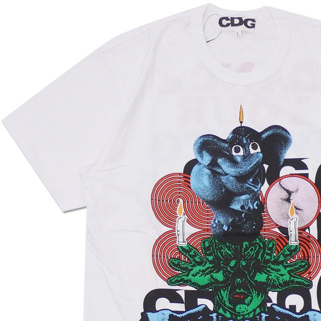 CDG(シーディージー) BRAIN DEAD T-SHIRT (Tシャツ) WHITE 200-007916-050x【新品】 COMME des GARCONS(コムデギャルソン)