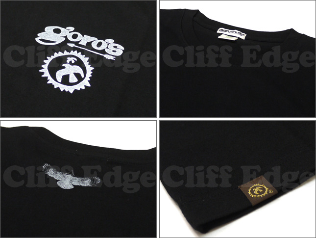 Goro 's (ゴローズ) BACK EAGLE T 셔츠 BLACKxWHITE 200-003054-042 +