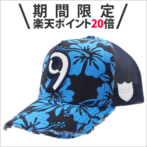 【期間限定ポイント20倍!!】YOSHINORI KOTAKE(ヨシノリコタケ) 9 LOGO ALOHA MESH CAP (キャップ) BLACK 251-001132-011x【新品】