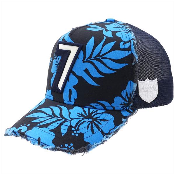 YOSHINORI KOTAKE(ヨシノリコタケ) 7 LOGO ALOHA MESH CAP (キャップ) BLACK 251-001131-011x【新品】