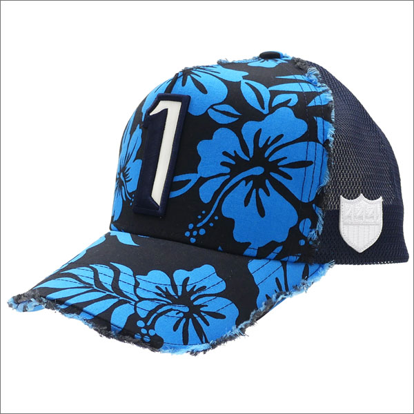 ヨシノリコタケ YOSHINORI KOTAKE 1 LOGO ALOHA MESH CAP キャップ BLACK 251001129011 【新品】