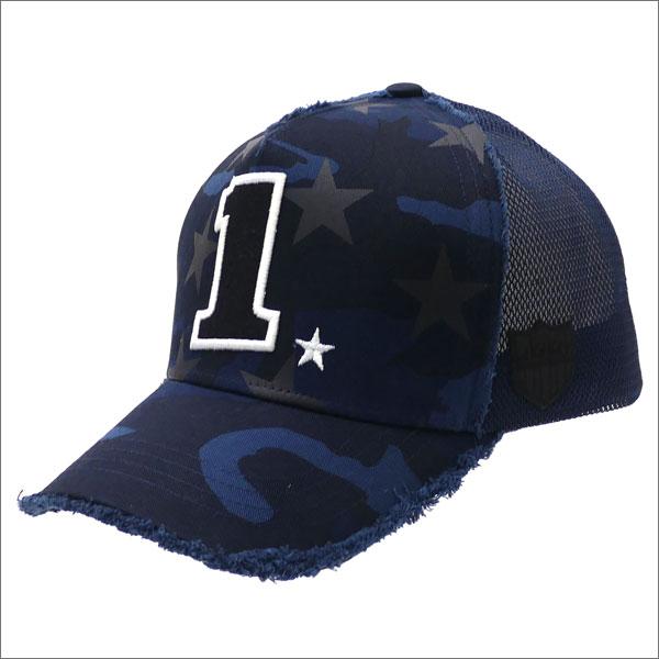 ヨシノリコタケ YOSHINORI KOTAKE 1 LOGO STAR CAMO MESH CAP キャップ NAVY CAMO 251001191017 【新品】