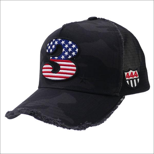 YOSHINORI KOTAKE(ヨシノリコタケ) 星条旗 3 LOGO CAMO MESH CAP (キャップ) BLACK CAMO 251-001188-011x【新品】