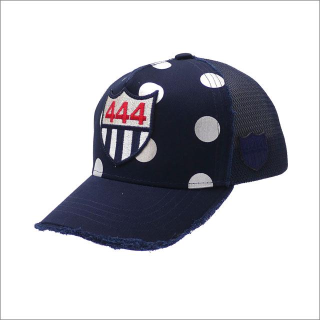 YOSHINORI KOTAKE(ヨシノリコタケ) WMNS&KIDS FOIL DOT 444 LOGO MESH CAP (キャップ) NAVY 251-001222-017+【新品】