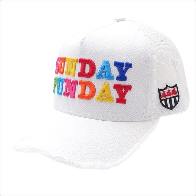 YOSHINORI KOTAKE(ヨシノリコタケ) SUNDAY FUNDAY MESH CAP (キャップ) WHITE 251-001246-010x【新品】