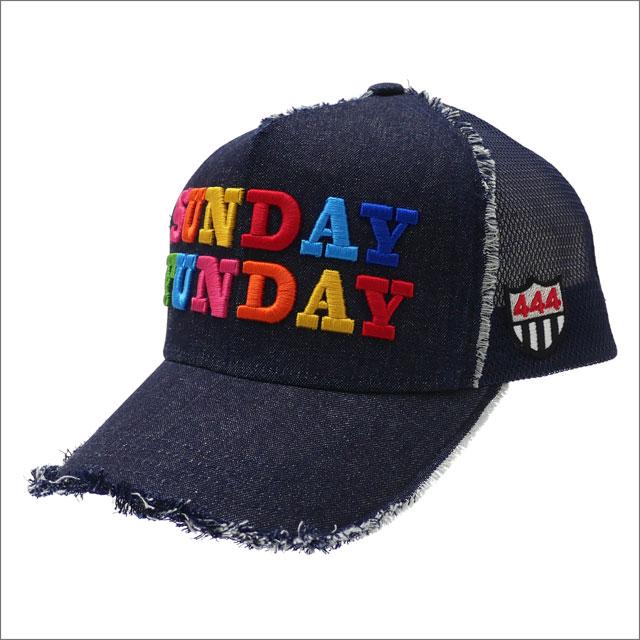 YOSHINORI KOTAKE(ヨシノリコタケ) SUNDAY FUNDAY MESH CAP (キャップ) INDIGO 251-001247-017x【新品】