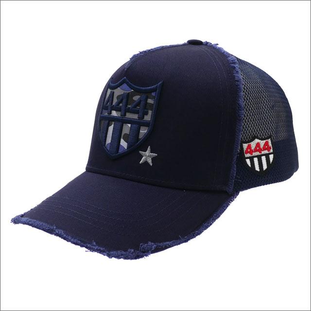 YOSHINORI KOTAKE(ヨシノリコタケ) CAMO 444 LOGO MESH CAP (キャップ) NAVY 251-001261-017x【新品】