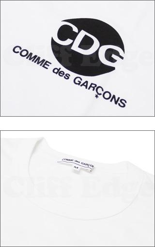 COMME des GARCONS (컴 드 르 손) x D&DEPARTMENT CDG 서클 티셔츠 WHITE 200-004092-030x PLAY (플레이)