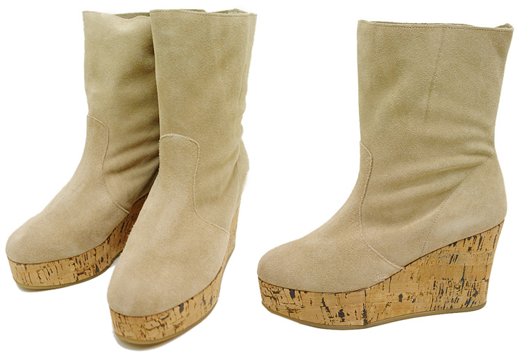 Another Edition (アナザーエディション) suede boots BEIGE