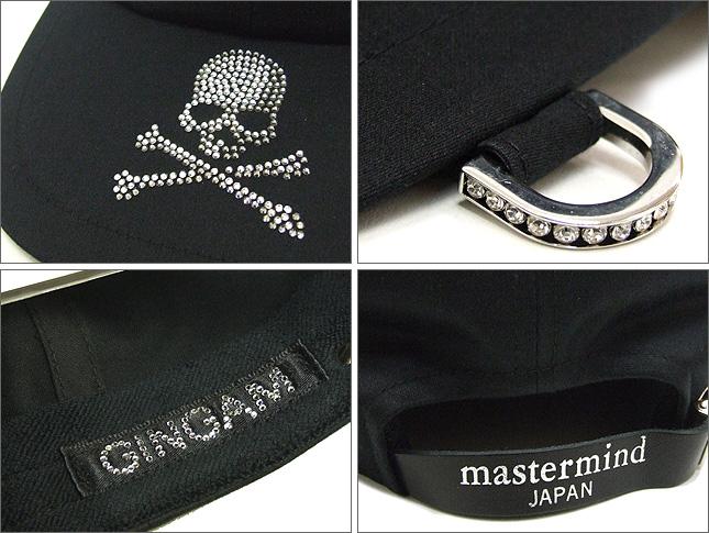 Mastermind JAPAN (주된 마인드) スワロフスキースカルキャップ BLACK