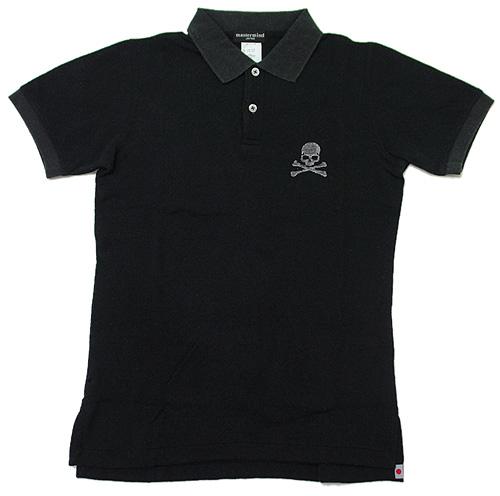 mastermind JAPAN(마스터 마인드 재팬) 스컬 로고기모폴로 셔츠 BLACK