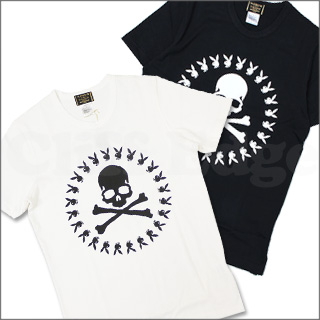 mastermind JAPAN (mastermind Japan) x Playboy ( Playboy ) x 8 THEATER (theater affiliate) SKULL RABBIT CIRCLE logo T shirt 200-004326-040-