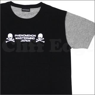 Mastermind JAPAN (마스터 마인드 재팬) x PHENOMENON (フェノメノン) PARIYA CONNECTION T 셔츠 BLACKxGRAY 200-004361-031 +