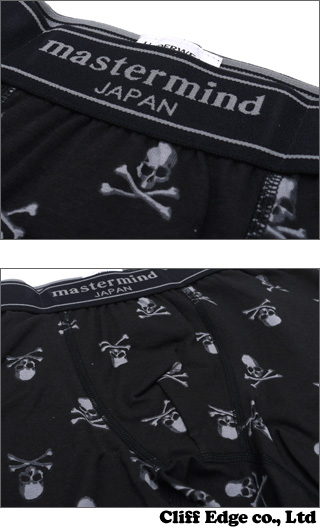 mastermind JAPAN x Hanes BOXER BRIEF SKULL LOGO [복서 팬츠] BLACK 2450-00162-062 x
