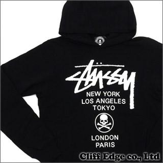 策划者日本 STUSSY 世界巡演套衫连帽大衣黑色 211-000277-041 x x