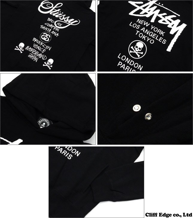 mastermind JAPAN x STUSSY WORLD TOUR PULLOVER HOODIE [파커] BLACK 211-000277-041 x