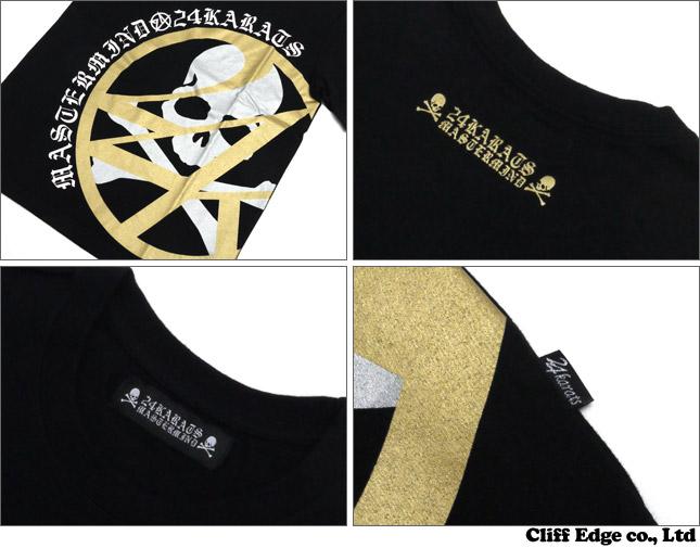 mastermind JAPAN x 24karats小组标识T恤BLACKxGOLD 100-011720-051+