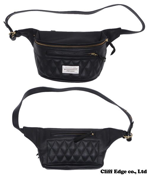NEIGHBORHOOD x PORTER(포터) WB/CL-WAIST BAG [웨스트 가방] BLACK 277-001792-011-