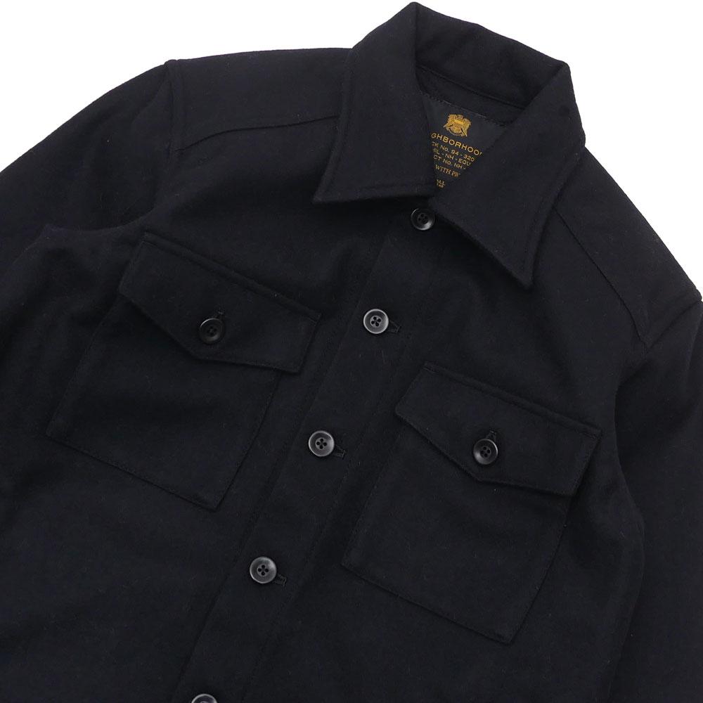 NEIGHBORHOOD (네이버 후드) CPO/WN-SHIRT. LS (재킷) (긴 소매 셔츠) 162AQNH-SHM01 BLACK 216-001445-031-