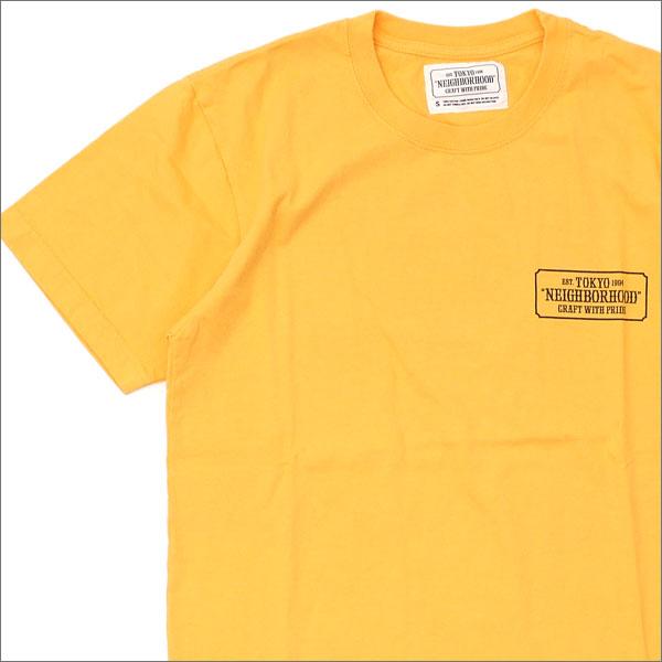 NEIGHBORHOOD(ネイバーフッド) UPRISING/C-TEE.SS (Tシャツ) 171PCNH-ST06S YELLOW 200-007467-038x【新品】
