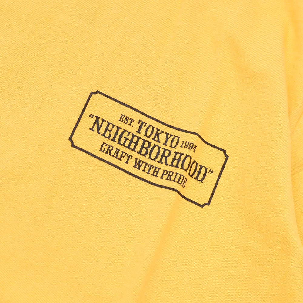NEIGHBORHOOD UPRISING/C-TEE.SS (T-shirt) 171PCNH-ST06S YELLOW 200-007467-038x
