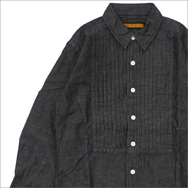 NEIGHBORHOOD(ネイバーフッド) DOLLA/CL-SHIRT.LS (長袖シャツ) 181AQNH-SHM05 BLACK 216-001524-031-【新品】