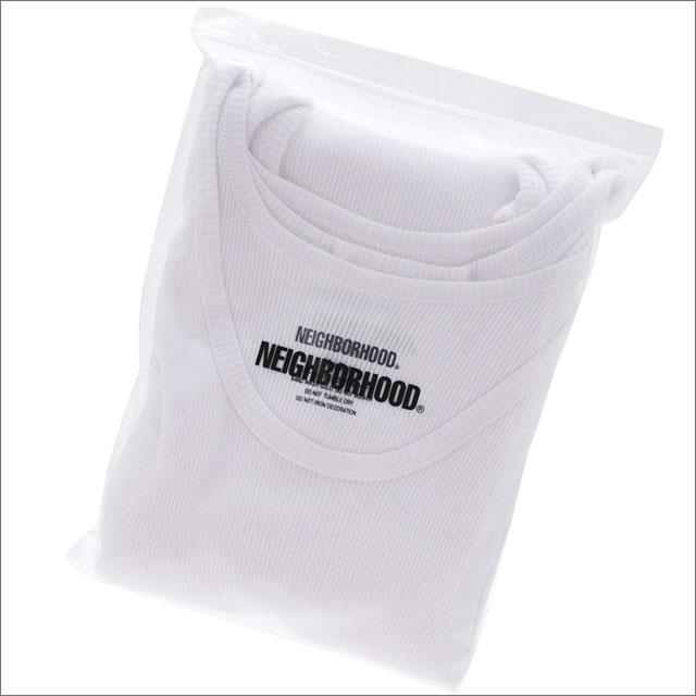 NEIGHBORHOOD(ネイバーフッド) CLASSIC 3PAC/C-TANK (タンクトップ 3枚セット) 181TMNH-UWM03 WHITE 205-000149-040-【新品】