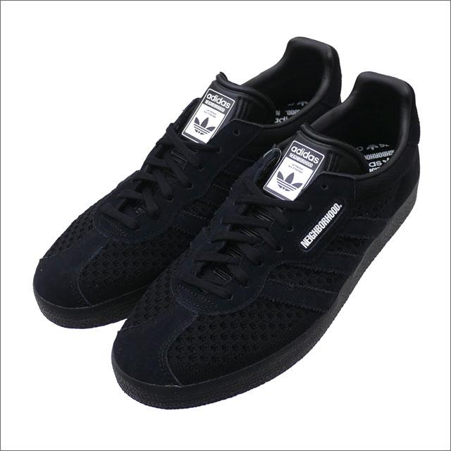 NEIGHBORHOOD(ネイバーフッド) x adidas Originals Gazelle Super NBHD (スニーカー) BLACK 181ADADN-FWM02S 291-002389-281-【新品】