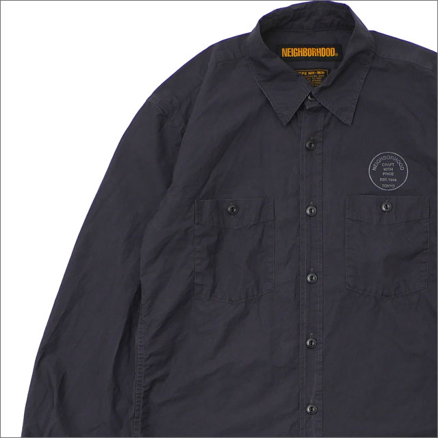 NEIGHBORHOOD(ネイバーフッド) OFFICER/C-SHIRT.LS (長袖シャツ) 181SPNH-SHM03 BLACK 216-001537-041-【新品】